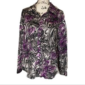 Additions by Chico's Button Down Swirl Shirt